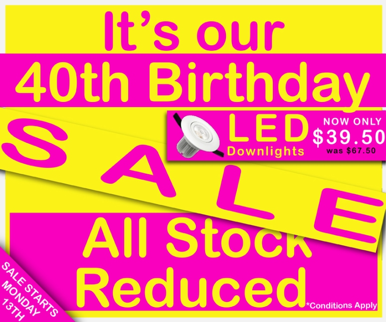 BIRTHDAY SALE newsletter